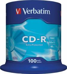 CD-R Verbatim Extra Protection 700MB 52X 100 buc. CD-uri si DVD-uri