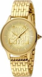 Cea Dama Just Cavalli Logo din otel inoxidabil Auriu Ceasuri de dama