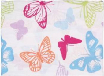 Cearceaf pat cu elastic Studio Casa-Butterfly Cyt 90x200 cm
