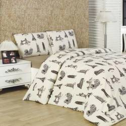 Cearceaf pat cu elastic Studio Casa-City Mix 160x200 cm Cearceafuri si fete perna