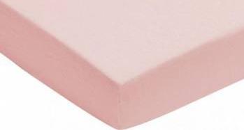 Cearsaf roz pentru pat bebe 60x120 cm Jollein Lenjerii si accesorii patut