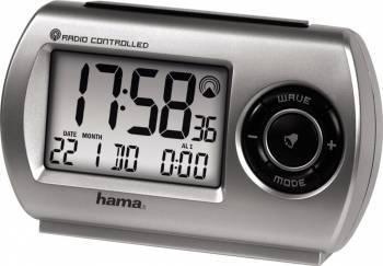 Ceas alarma Hama voiaj RC300 Gri Ceasuri si Radio cu ceas