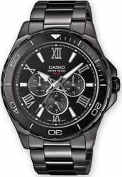 Ceas barbatesc Casio Casual MTD-1075BK-1A1 Cadran Negru Curea Metal Ceasuri barbatesti