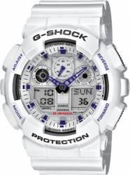 Ceas Barbatesc Casio G-Shock GA-100A-7AER White-Purple Ceasuri barbatesti
