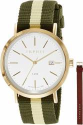 Ceas Barbatesc Esprit ES108361002 Gold-Green-Brown ceasuri barbatesti