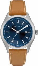 Ceas barbatesc Nautica NAD11014G Cadran albastru Curea Piele Ceasuri barbatesti