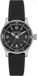 Ceas de dama Nautica NAD12539L Cadran negru Curea cauciuc Ceasuri barbatesti