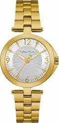 Ceas de dama Nautica NAD14001L Cadran alb Curea metalica Ceasuri de dama