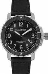 Ceas barbatesc Nautica NAD15011G Cadran negru Curea Piele Ceasuri barbatesti