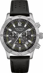 Ceas barbatesc Nautica NAD16544G Cadran negru Curea piele Ceasuri barbatesti