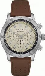 Ceas barbatesc Nautica NAD16545G Cadran alb Curea Piele Ceasuri barbatesti