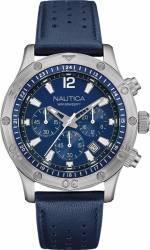 Ceas barbatesc Nautica NAD16547G Cadran albastru Curea Piele Ceasuri barbatesti