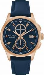Ceas barbatesc Nautica NAD19558G Cadran albastru Curea Piele Ceasuri barbatesti