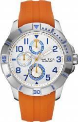 Ceas Barbatesc Nautica NAI12507G Alb Curea Cauciuc
