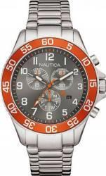 Ceas Barbatesc Nautica NAI17511G Silver-Orange Ceasuri barbatesti