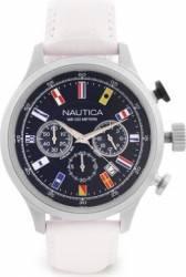 Ceas barbatesc Nautica NAI18516G Cadran albastru Curea Piele Ceasuri barbatesti