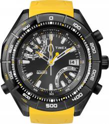 Ceas barbatesc Timex Intelligent Quartz T2N730 Cadran Negru Curea Cauciuc Ceasuri barbatesti
