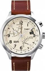 Ceas barbatesc Timex Intelligent Quartz T2N932 Cadran Crem Curea Piele de Vitel Ceasuri barbatesti