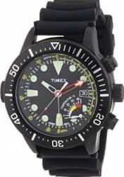 Ceas barbatesc Timex Intelligent Quartz T2P529 Cadran Negru Curea Silicon Ceasuri barbatesti