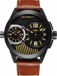 Ceas casual barbatesc Curren Quartz Chronograf Dual Time 8249 maro Ceasuri barbatesti