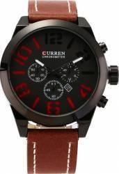 Ceas casual barbatesc Curren Quartz Chronometer cu afisaj data 8198-1 visiniu Ceasuri barbatesti