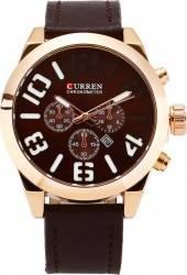 Ceas casual barbatesc Curren Quartz Chronometer cu afisaj data 8198-2 maro Ceasuri barbatesti