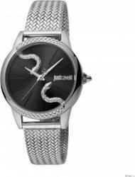 Ceas Dama Just Cavalli Logo din Otel inoxidabil Argintiu Ceasuri de dama
