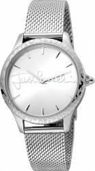 Ceas Dama Just Cavalli Logo Fashion Cristal Mineral Argintiu Ceasuri de dama