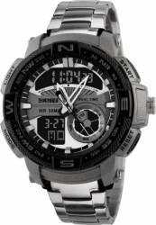 Ceas Barbatesc Skmei 1121 Cronograf Analog si Digital Argintiu Ceasuri barbatesti