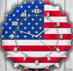Ceas de perete Lupia America Flag 30 x 30 cm