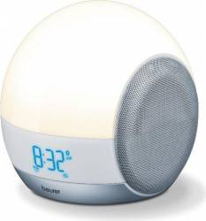 Ceas desteptator cu simulator al rasaritului 4 in 1 Beurer 3 timpi de alarma Ceasuri si Radio cu ceas