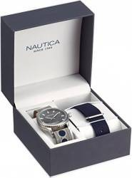 Ceas Nautica Barbatesc Box Set NAD14532G Grey-Navy Ceasuri barbatesti