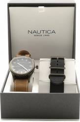 Ceas Nautica Barbatesc Box Set NAD16000G Black-Brown Ceasuri barbatesti