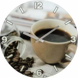 Ceas perete Hama Coffee sticla Ceasuri si Radio cu ceas