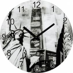 Ceas perete Hama New York Sticla Ceasuri si Radio cu ceas