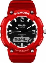 Ceas sport antisoc Smael S-Shock analog-digital WS1539-1, Rosu Ceasuri barbatesti