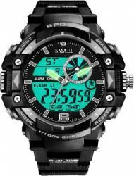 Ceas sport antisoc Smael Sport Dual Time analog-digital WS1379, Negru Ceasuri barbatesti