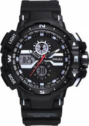 Ceas sport antisoc Smael Sport World Time analog-digital WS1376, Negru Ceasuri barbatesti