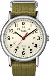 Ceas unisex Timex Weekender T2N651 Cadran Crem Curea Verde