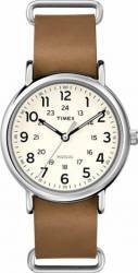 Ceas Unisex Timex Weekender T2P492 Brown-Silver Ceasuri Unisex and Copii