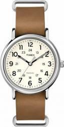 Ceas Unisex Timex Weekender T2P492 Brown-Silver Ceasuri Unisex and Copii