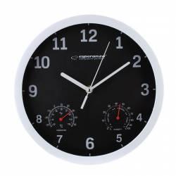 Ceas de perete cu termometru si higrometru Esperanza Lyon Ceasuri si Radio cu ceas