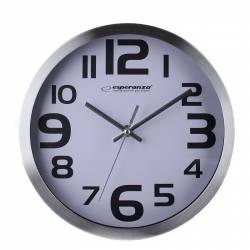 Ceas de perete Esperanza Zurich culoare alb Ceasuri si Radio cu ceas