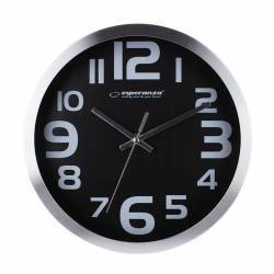 Ceas de perete Esperanza Zurich culoare negru Ceasuri si Radio cu ceas