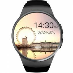 pret preturi Ceas Smartwatch cu Telefon iUni KW18 Touchscreen 1.3 Inch HD Camera Notificari iOS si Android Black