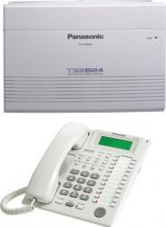 Centrala telefonica Panasonic KX-TES824CE 3 linii ext, 8 linii int, telefon prorietar KX-T7730+RP-TCA430 Centrale telefonice analogice