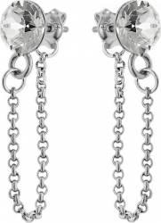 Cercei Argint 925 placat cu rodiu cu cristale Swarovski Xirius Chain 6mm Crystal Clear cercei