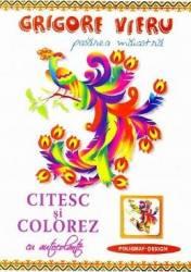 Citesc si colorez cu autocolante Pasarea maiastra - Grigore Vieru