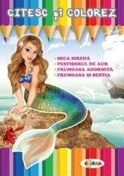 Citesc si colorez Mica Sirena