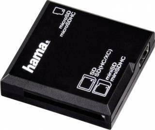 Citior de Carduri Hama All in One USB 2.0 SD/microSD Negru